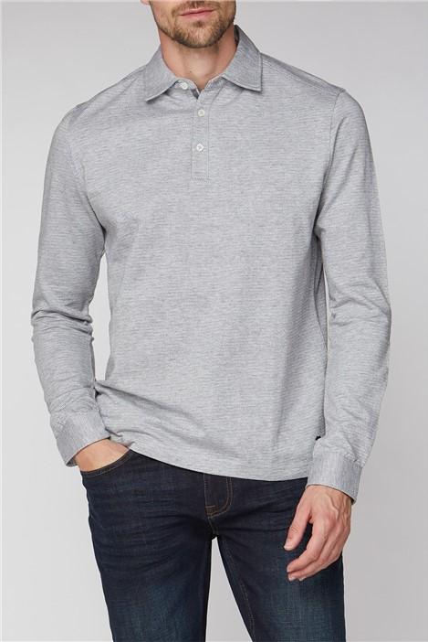 Jeff Banks Long Sleeve Grey Marl Jersey