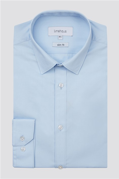 Limehaus Blue Single Cuff Shirt