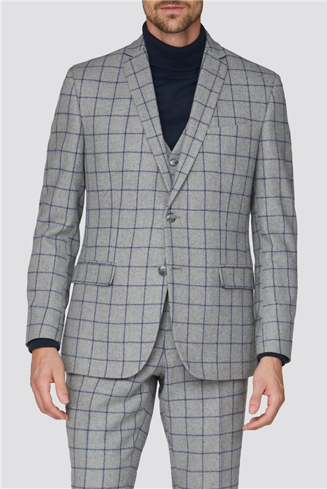Racing Green Grey Windowpane Heritage Tweed Suit
