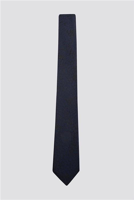 Limehaus Navy Lurex Reptile Tie
