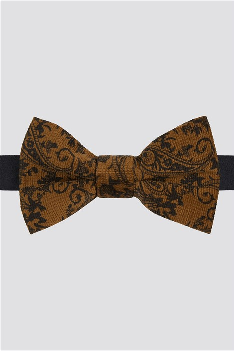 Limehaus Gold Baroque Paisley Bow Tie
