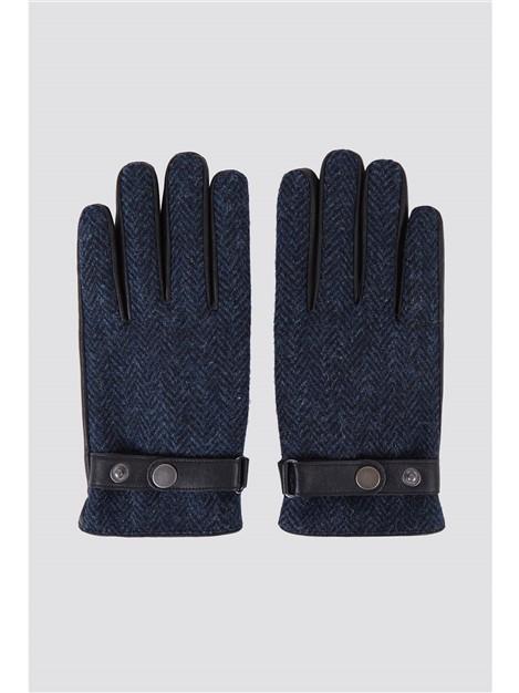 Racing Green Harris Tweed Blue Donegal Glove