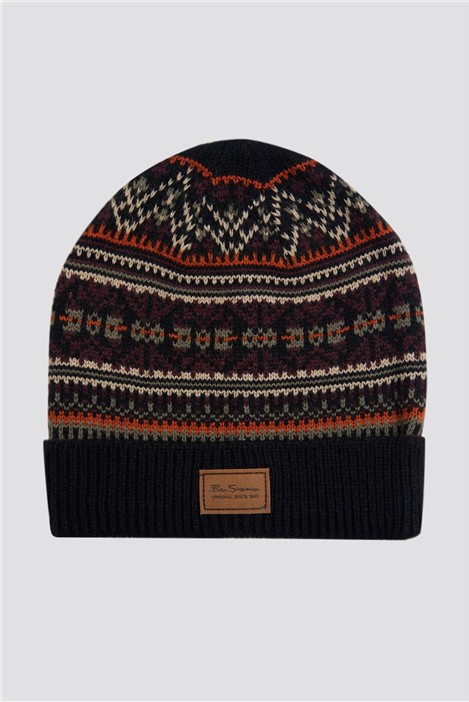Ben Sherman Fairisle Knit Hat