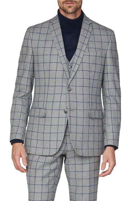 Racing Green Grey Windowpane Heritage Tweed Suit