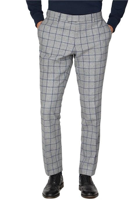 Racing Green Grey Windowpane Heritage Tweed Trouser
