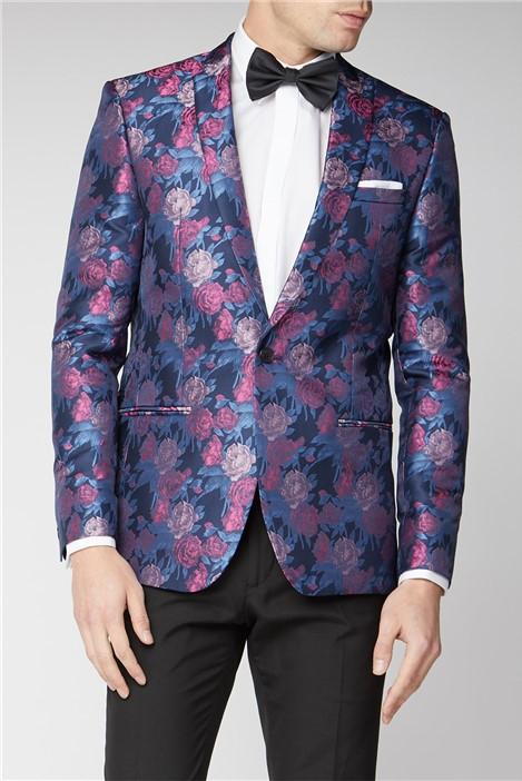 Limehaus Navy Pink Floral Jacket