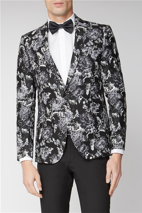 Limehaus Black Grey Floral Jacket