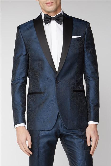 Limehaus Blue Tonal Paisley Suit