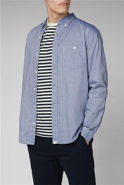 Melka Molkom Long Sleeve Plain Oxford Shirt