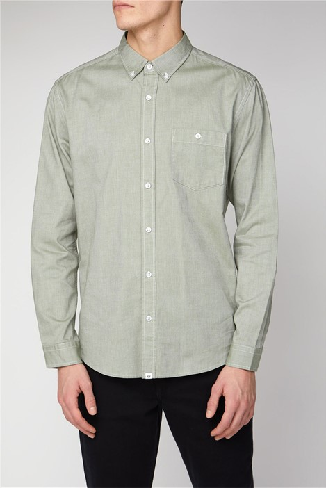 Melka Molkom Long Sleeve Plain Oxford Shirt