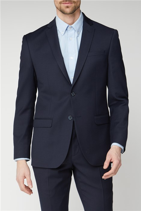 Ben Sherman Navy Texture Tailored Fit Suit