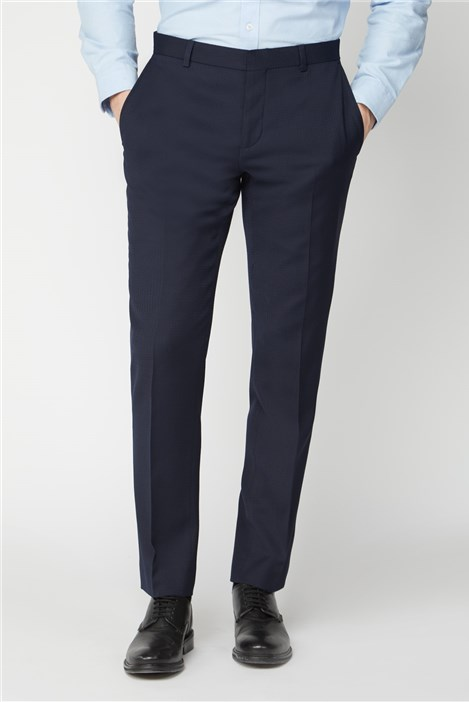 Ben Sherman Navy Texture Tailored Fit Suit Trouser