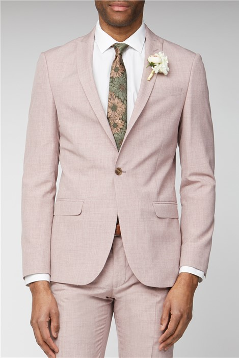 Limehaus Light Pink Slim Fit Suit
