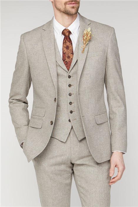 Racing Green Sand Donegal Tailored Fit Suit