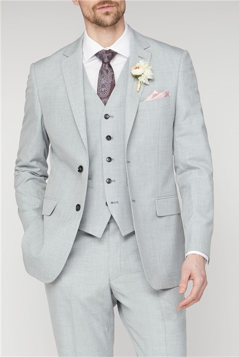 Occasions Light Grey Texture Regular Fit Suit
