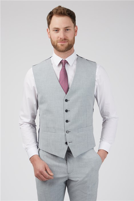 Occasions Light Grey Texture Waistcoat
