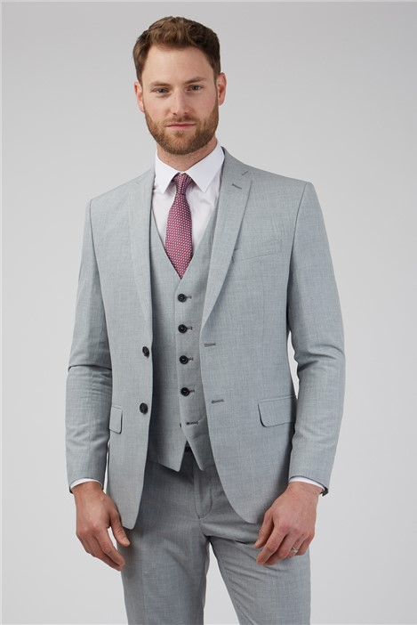 Occasions Light Grey Texture Tailored Fit Suit