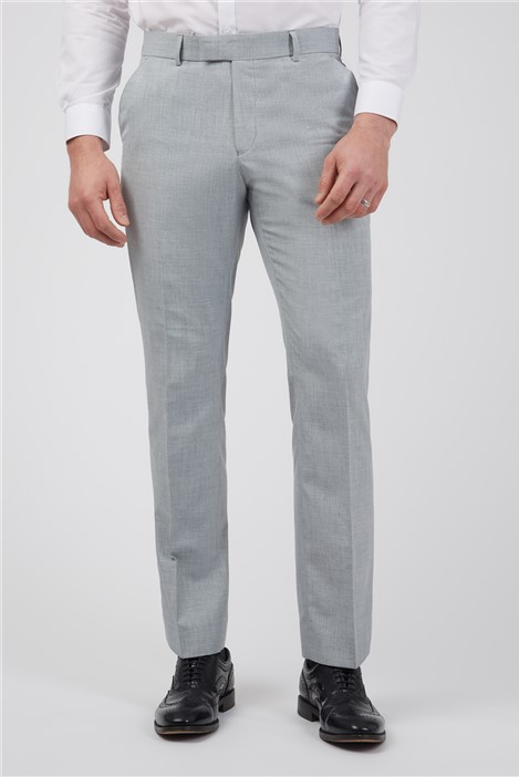 Occasions Light Grey Texture Tailored Fit Suit Trousers