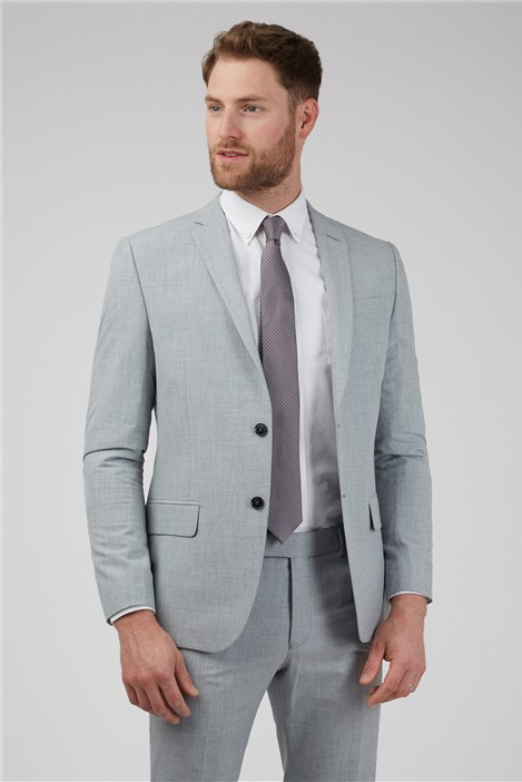 Occasions Light Grey Textured Occasions Slim Fit Suit
