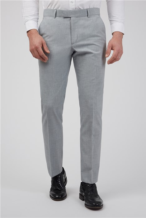 Occasions Light Grey Textured Occasions Slim Fit Trousers