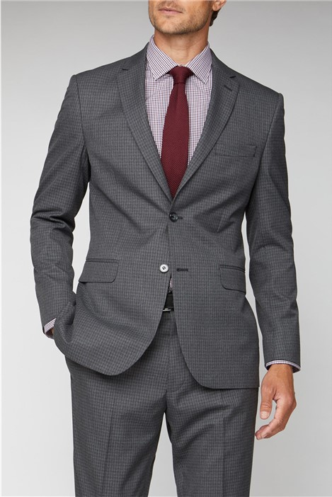 Scott & Taylor Charcoal Texture Regular Fit Suit