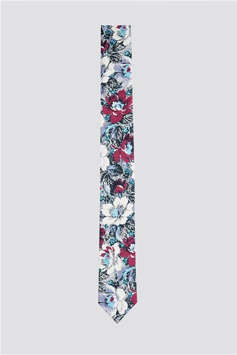 Limehaus Limehaus Lilac Bold Floral Print Tie