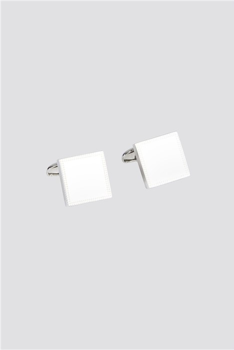 Jeff Banks Silver Border Texture Cufflinks