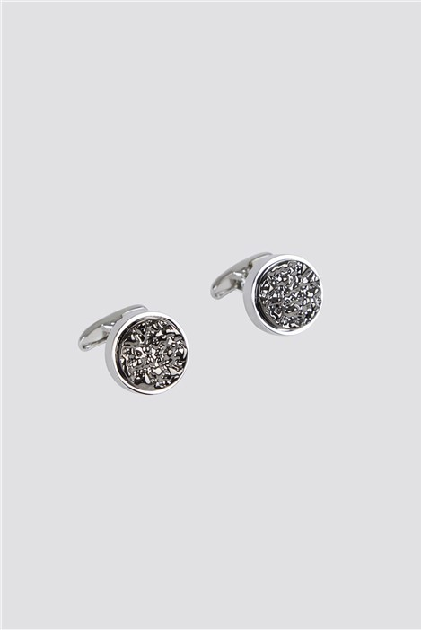 Jeff Banks Gunmetal Texture Cufflinks