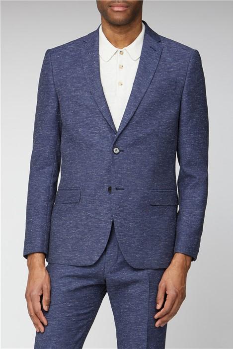 Limehaus Navy Speckle Texture Slim Fit Suit