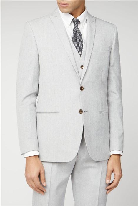 Ben Sherman Cool Grey Texture Slim Fit Suit