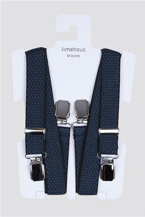 Limehaus Navy Diamond Braces