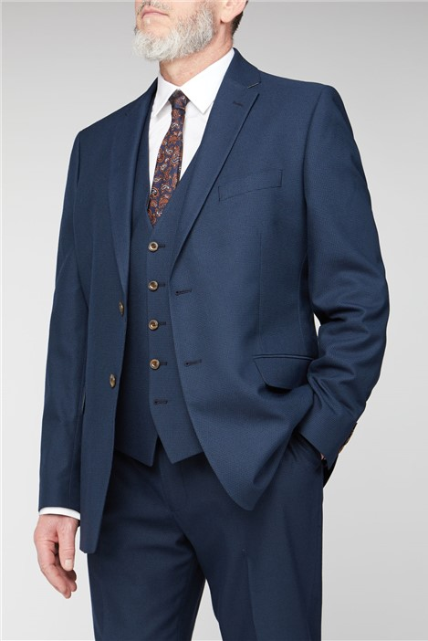 British Tailor Deep Blue Structure Big and Tall Suit