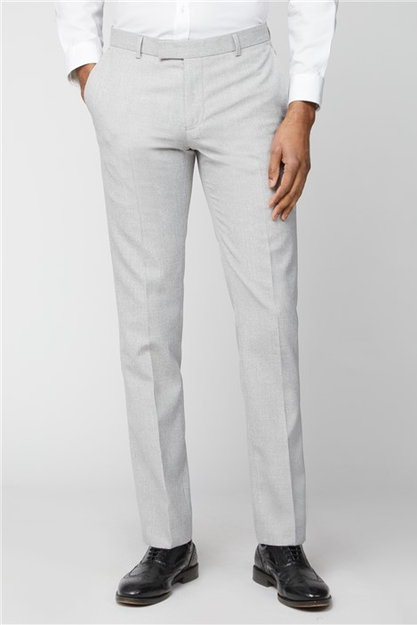 Limehaus Ice Grey Slim Fit Suit Trousers