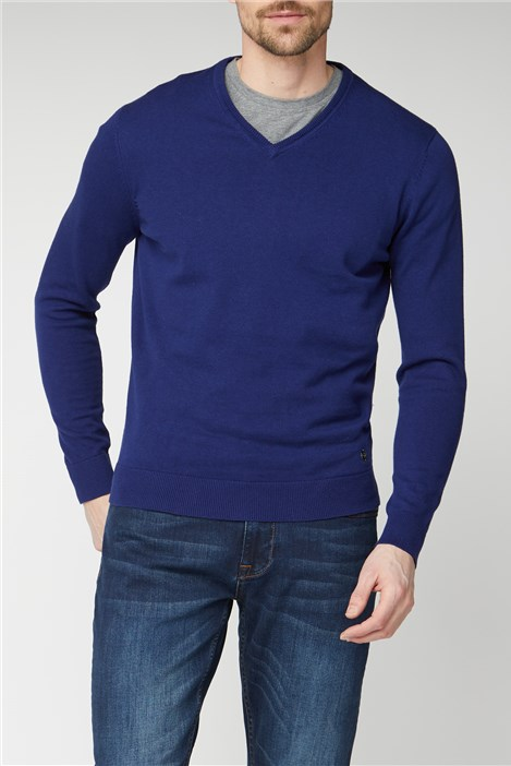 Jeff Banks Marine V Neck Jumper