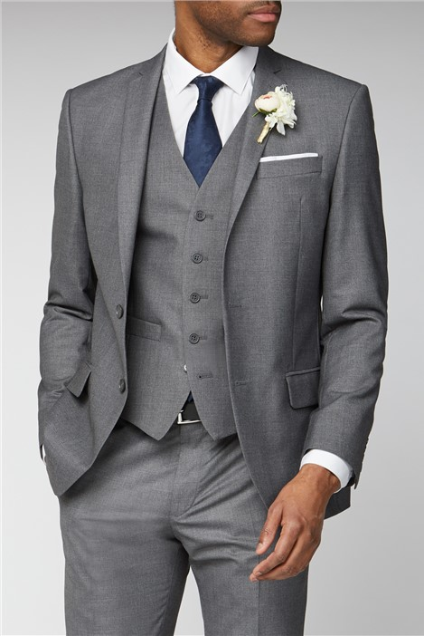 Occasions Grey Plain Slim Fit Suit