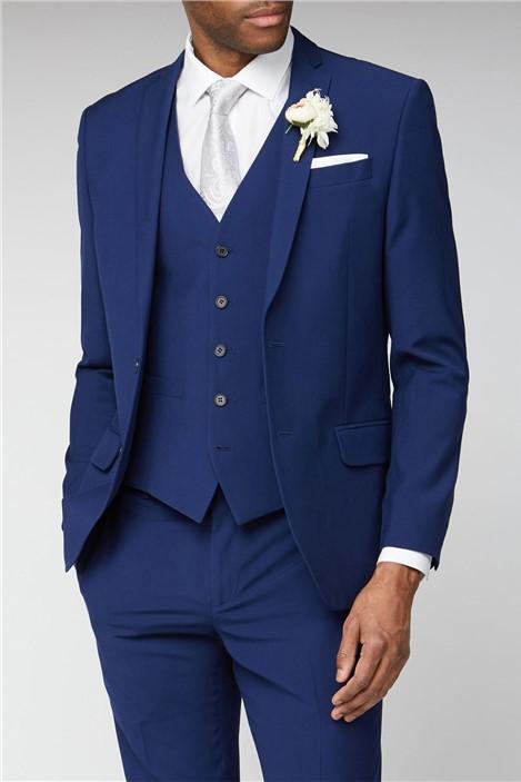 Occasions Blue Plain Slim Fit Suit