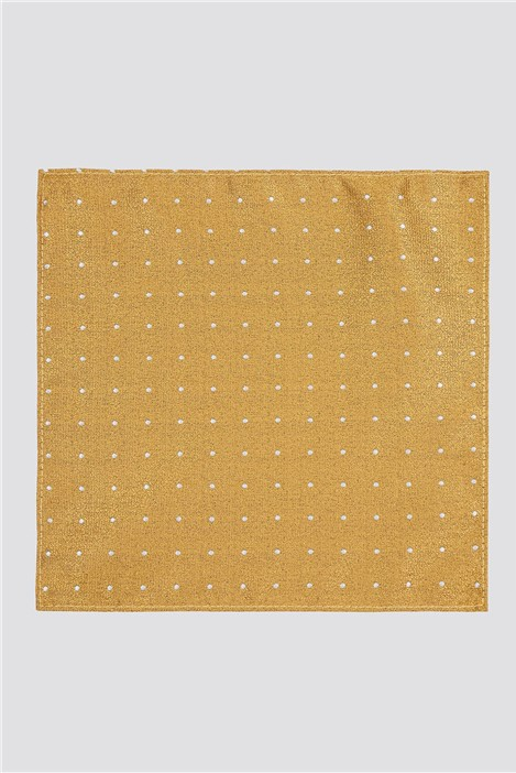 Scott & Taylor Gold Textured Spot Pocket Square