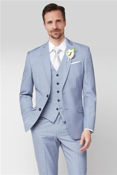 Occasions Pale Blue Regular Fit Suit