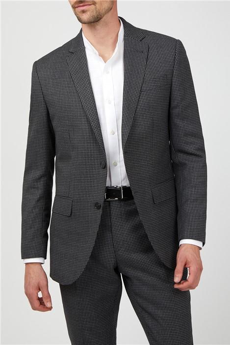 Jeff Banks Grey Tonal Puppytooth Soho Suit