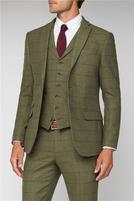 Racing Green Green Heritage Check Tailored Fit Jacket