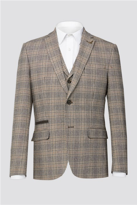 Racing Green Brown Heritage Check Jacket