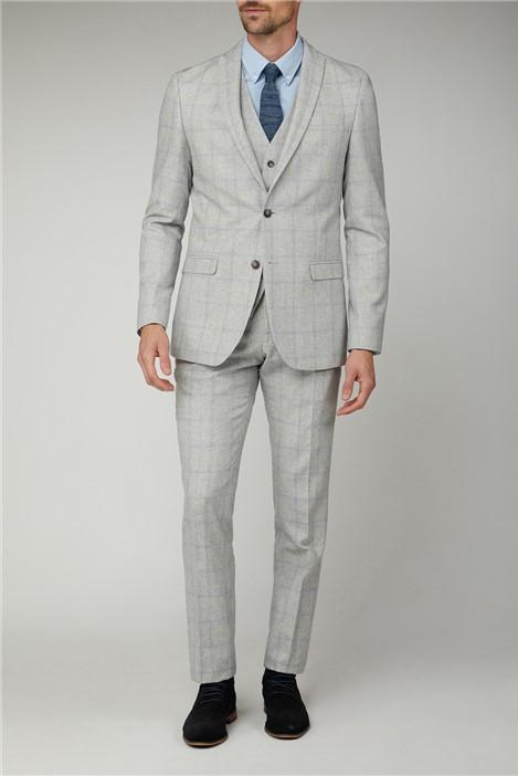 Limehaus Light Grey Blue Check Jacket