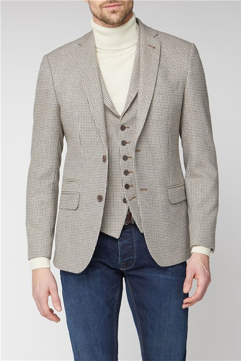 Racing Green Heritage Micro Check Tailored Jacket