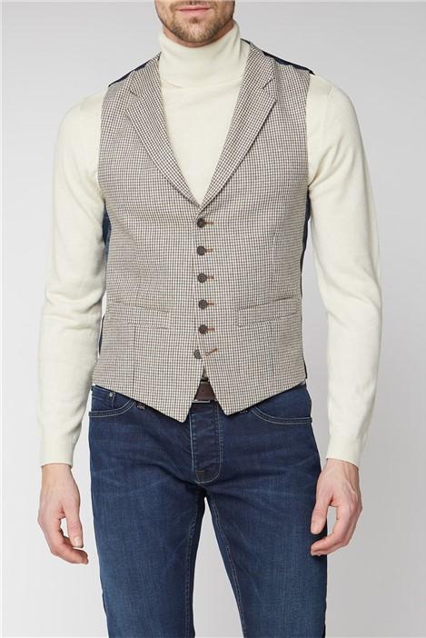 Racing Green Heritage Micro Check Tailored Waistcoat