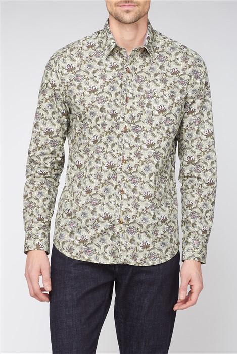 Jeff Banks Casual Berry Mandala Floral Print Shirt