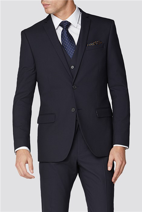 Limehaus Plain Navy Slim Fit Suit