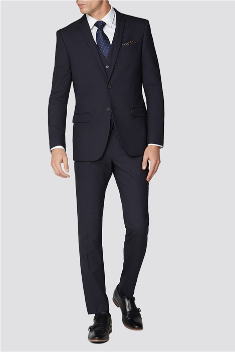 Limehaus Debs Plain Navy Slim Fit Suit Jacket