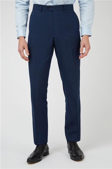 Limehaus Bright Blue Slim Fit Suit Trouser