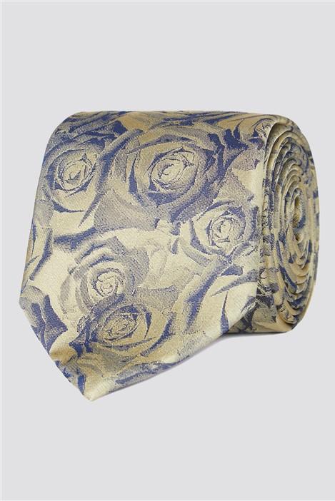 Stvdio Gold Digital Roses Tie