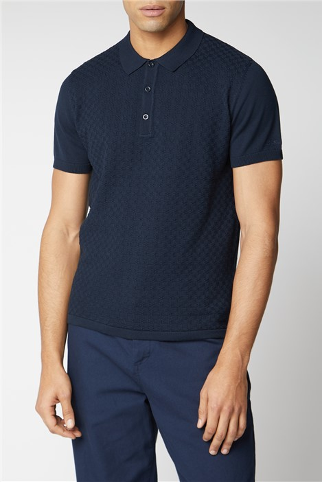 Ben Sherman Textured Knitted Polo